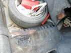 Lyukas hátsó kipufogó dobtól meggyulladt a csomagtartóban a karosszéria szigetelés