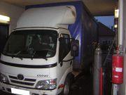 Toyota Dyna ponyvás kisteherautó kipufogó javítás