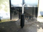 Caterpiller munkagép kipufogódob készítés rozsdamentes kivezetőcsővel