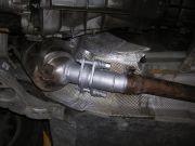 BMW 118D flexibilis kipufogócső kiváltás rozsdamentes tűzkarikás rezgéscsillapítóval