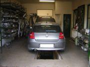 BMW 118D kipufogó javítás, csere