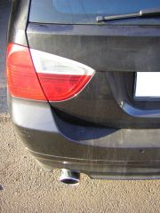 BMW 320 D kipufogó vég csere