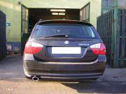 BMW 320 D tuning kipufogó véggel