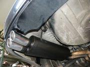 BMW 535i dupla csöves hátsó sport kipufogódob rozsdamentes díszvégekkel