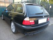 BMW 535i hátsó sportkipufogó dob dupla kerek rozsdamentes díszvéggel