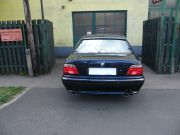 BMW 740i sportkipufogó hátsó dobok dupla saválló ovál díszvéggel