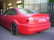 BMW drift versenyautó sport kipufogó dupla csővel
