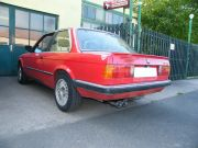 BMW E30 318i hátsó sportkipufogó dob iker kocka véggel