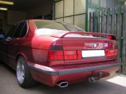 BMW E34 520i 24V kipufogó hátsó dob rozsdamentes ovál véggel