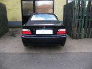 BMW E36 320i Cabrio sportkipufogó hátsódob dupla kerek rozsdamentes díszvéggel