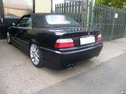 BMW E36 320i Cabrio sportkipufogó hátsódob dupla kerek saválló díszvéggel