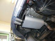 BMW E36 Compact 323i utángyártott hátsó kipufogódob dupla rozsdamentes kivezetőcsővel
