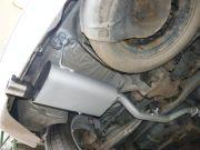BMW E36 Compact hátsó sport kipufogódob összekötőcsővel, saválló díszvéggel