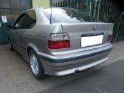 BMW E36 Compact hátsó sportkipufogó dob saválló kerek díszvéggel