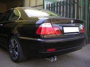 BMW E46 320d hátsó sportkipufogó dob dupla kerek véggel
