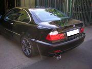 BMW E46 320d sport kipufogó hátsó dob dupla rozsdamentes véggel