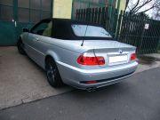 BMW E46 320i Cabrio hátsó sportkipufogódob dupla rozsdamentes díszvéggel
