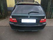 BMW E46 320i kombi hátsó kipufogódob dupla saválló díszvéggel