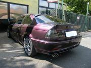 BMW E46 325i sportkipufogó hátsódob dupla kerek saválló díszvéggel