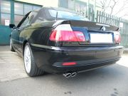 BMW E46 330i Cabrio sport kipufogó hátsódob dupla kerek díszvéggel