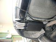 BMW E60 3.0 turbo diesel sportkipufogó hátsódob csere egyedi rozsdamentes dupla díszvéggel