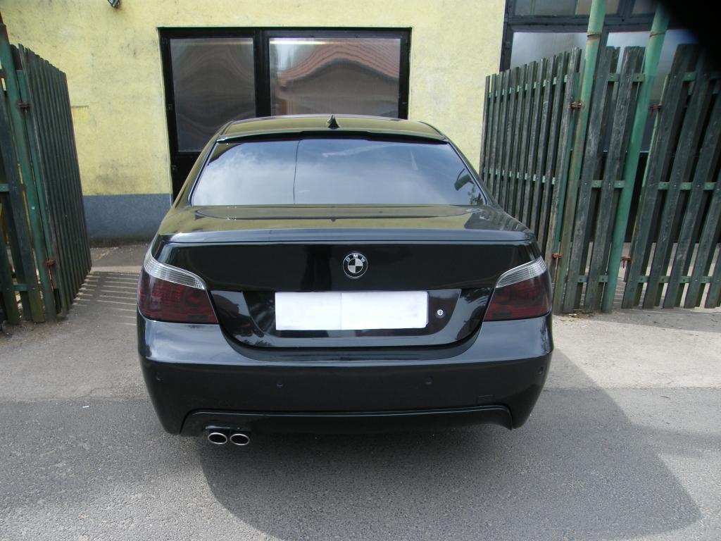 BMW E60 3.0 turbo diesel sportkipufogó hátsódob dupla rozsdamentes kerek díszvéggel