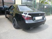 BMW E60 3.0 turbo diesel sportkipufogó hátsódob dupla saválló díszvéggel