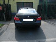 BMW E60 hátsó gyári kipufogódob dupla rozsdamentes kipufogó díszvéggel