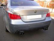 BMW E60 sportkipufogó hátsó dob két oldalt kivezetve 4db rozsdamentes kerek véggel