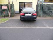 BMW E92 320i hátsó sport kipufogódob dupla kerek rozsdamentes díszvéggel