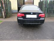 BMW E92 320i hátsó sport kipufogódob dupla rozsdamentes polírozott díszvéggel