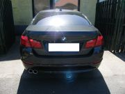 BMW F10 528i hátsó sport kipufogódob dupla kerek rozsdamentes polírozott díszvéggel