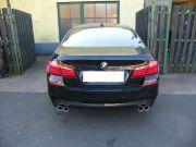 BMW F10 530i sportkipufogó hátsódob bal- és jobboldali kivezetéssel dupla kerek díszvéggel