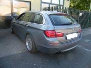 BMW F11 528i hátsó sport kipufogódob dupla kerek rozsdamentes díszvéggel