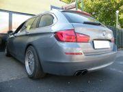 BMW F11 528i hátsó sport kipufogódob dupla kerek saválló díszvéggel