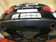 BMW F11 535i twin turbo sportkipufogó hátsó dobok saválló kerek díszvéggel