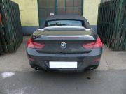 BMW F12 640i twin turbo dupla sportkipufogó hátsódob rozsdamentes kerek díszvéggel