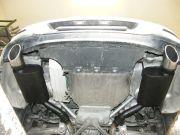 BMW F12 640i twin turbo sportkipufogó hátsó dobok saválló díszvéggel