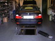 BMW hátsó sport kipufogó dob szerelés