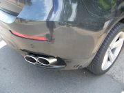 BMW X6 jobb hátsó kipufogó cső rozsdamentes dupla kerek díszvéggel