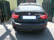 BMW X6 kipufogó optikai tuning 4 db kerek saválló kipufogó díszvéggel