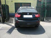BMW X6 kipufogó optikai tuning kétoldalt dupla rozsdamentes kerek kipufogó díszvéggel