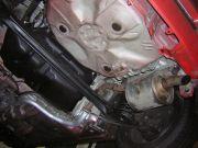 Toyota Yaris kipufogó cső csere