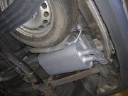 Volkswagen Caddy III 1.9 TDi utángyártott hátsó kipufogódob csere