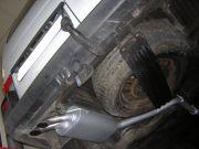 Volkswagen Caravelle T4 2.5 TDi 151LE kisbusz utángyártott hátsó kipufogódob a gyári rozsdamentes végekkel