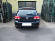 Volkswagen Golf VI gyári hátsó kipufogódob dupla kerek rozsdamentes díszvéggel