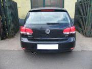 Volkswagen Golf VI tsi hátsó gyári kipufogó dob rozsdamentes kerek díszvégekkel