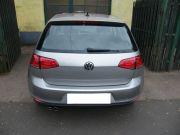 Volkswagen Golf VII gyári kipufogó hátsódob dupla kerek saválló díszvéggel