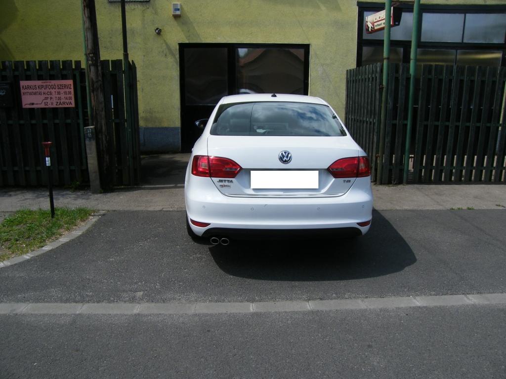 Volkswagen Jetta VI 1.4 TSi gyári kipufogó hátsódob rozsdamentes kipufogó díszvégekkel