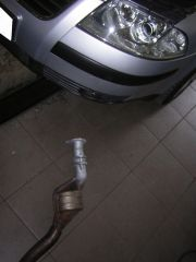 Volkswagen Passat 1.9 PDTDi flexibilis kipufogócső tipushiba javítás erősített tűzkarikás rezgéscsillapítóval